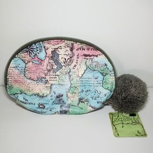Handbags - Explorer by Traditions Map Themed Leather Pouch